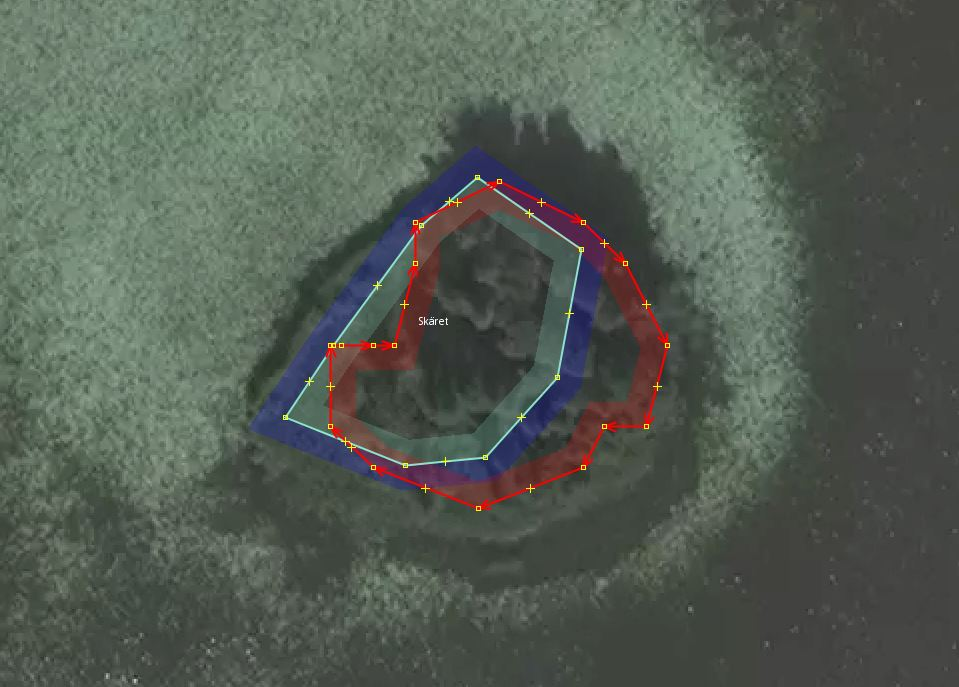Double borders for an islet, another example